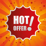 Shopping hot offers and discounts Royalty Free Stock Images