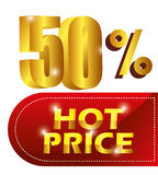 Shopping hot prices theme Stock Image