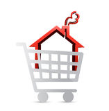Shopping for a house concept illustration Stock Photography
