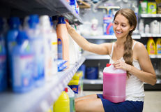 Shopping at household store Stock Images
