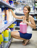 Shopping at household store Royalty Free Stock Photography