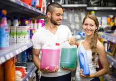 Shopping at household store Stock Image