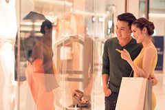 Shopping with husband Royalty Free Stock Image