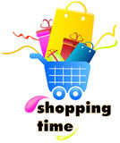 Shopping icon. Illustration of a shopping icon for web or print Royalty Free Stock Image