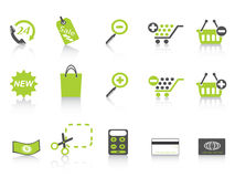 Shopping icon green series Stock Image