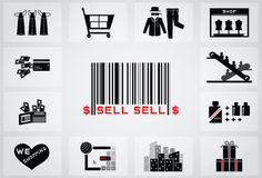 Shopping icon Stock Photos