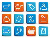 Shopping icon set Royalty Free Stock Photos