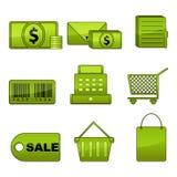 Shopping Icon Set Stock Image