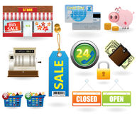 Shopping icon set#2 Stock Images