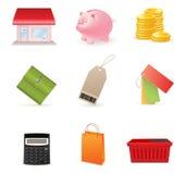 Shopping icon set Stock Photography