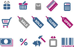 Shopping icon set Royalty Free Stock Image