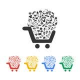Shopping icon set. Design style eps 10 royalty free illustration