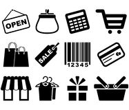 Shopping Icon Set. Stock Image