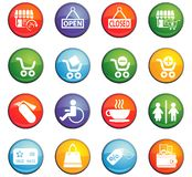 Shopping icon set. Shopping  icons for user interface design Stock Image