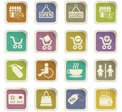 Shopping icon set. Shopping  icons for user interface design Royalty Free Stock Images