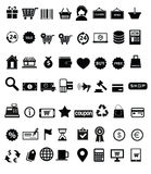 Shopping icon set. Illustration Shopping icon set, vector Royalty Free Stock Photos
