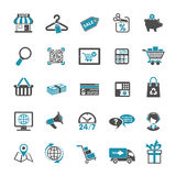 Shopping Icon Set Stock Images