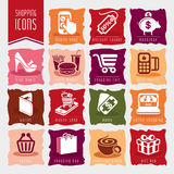Shopping icon set Royalty Free Stock Photography