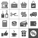 Shopping icons set - Simplus series Stock Photos