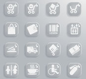 Shopping icon set. Shopping  simply symbols for web and user interface Stock Images