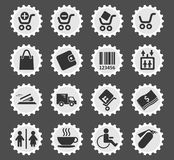 Shopping icon set. Shopping  simply symbols for web and user interface Royalty Free Stock Photo