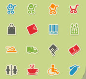 Shopping icon set. Shopping simply symbols for web and user interface Royalty Free Stock Image