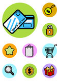 Shopping icon set vector Royalty Free Stock Photography