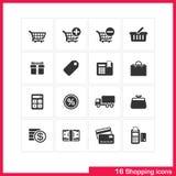 Shopping icon set. Royalty Free Stock Photo