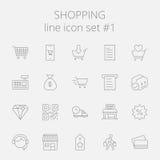 Shopping icon set Stock Images