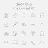 Shopping icon set Stock Photography