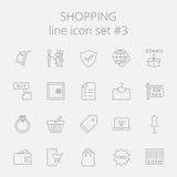 Shopping icon set Royalty Free Stock Photos