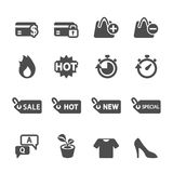 Shopping icon set 5, vector eps10.  Stock Image