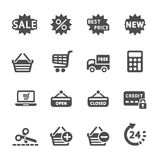 Shopping icon set 2, vector eps10 Royalty Free Stock Photo