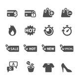 Shopping icon set 5, vector eps10.  Stock Photos