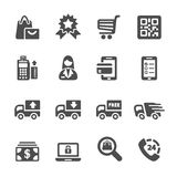Shopping icon set 9, vector eps10 Royalty Free Stock Photography