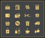 Shopping Icon Set.  Vector illustration Stock Images