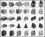 Shopping Icons #02. Icons for network structure. #e-commerce shopping shipping finance02 stock illustration