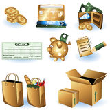 Shopping icons 1 Stock Photography