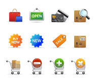 Shopping icons. High quality web icons for your site or application