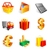 Shopping icons. royalty free illustration
