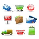 Shopping icons. Vector illustration of useful shopping icons Stock Photo