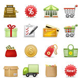 Shopping icons. Stock Photo