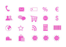 Shopping icons. For the web Royalty Free Stock Images