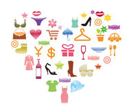 Shopping icons. Collection of vector shopping icons Royalty Free Illustration