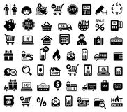 Free Shopping Icons Royalty Free Stock Photos - 34007768