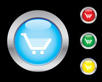 Shopping icons. Smart shopping trolley button icons. Please check out my icons gallery Royalty Free Stock Photo