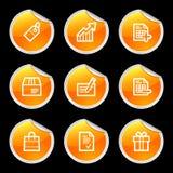 Shopping icons royalty free illustration