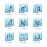 Shopping icons Royalty Free Stock Images
