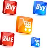 Shopping icons. Stock Photo