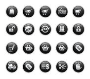 Shopping Icons // Black Label Series Royalty Free Stock Images